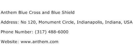 Anthem Blue Cross and Blue Shield Address Contact Number