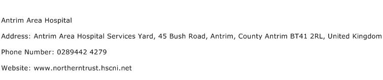 Antrim Area Hospital Address Contact Number