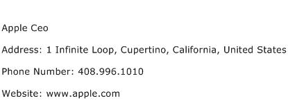 Apple Ceo Address Contact Number