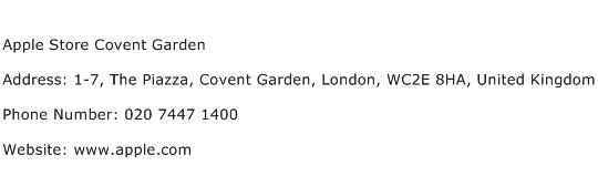 Apple Store Covent Garden Address Contact Number