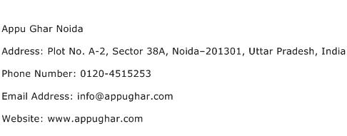 Appu Ghar Noida Address Contact Number