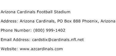Arizona Cardinals Football Stadium Address Contact Number