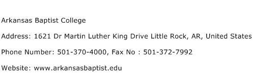 Arkansas Baptist College Address Contact Number
