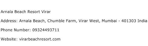 Arnala Beach Resort Virar Address Contact Number