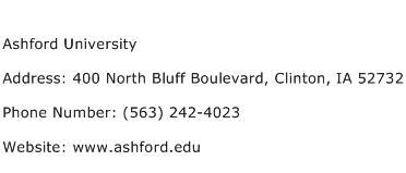Ashford University Address Contact Number