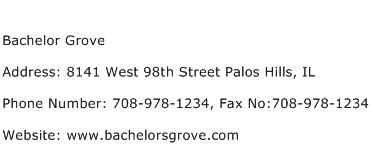 Bachelor Grove Address Contact Number