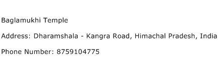 Baglamukhi Temple Address Contact Number