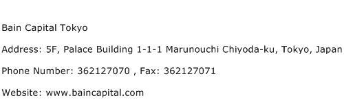 Bain Capital Tokyo Address Contact Number