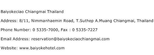 Baiyokeciao Chiangmai Thailand Address Contact Number