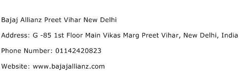 Bajaj Allianz Preet Vihar New Delhi Address Contact Number