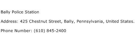 Bally Police Station Address Contact Number