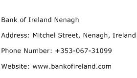 Bank of Ireland Nenagh Address Contact Number