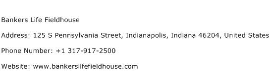 Bankers Life Fieldhouse Address Contact Number