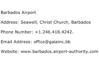 Barbados Airport Address Contact Number