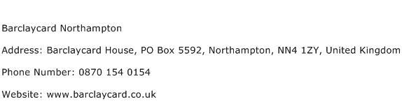 Barclaycard Northampton Address Contact Number