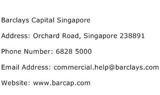Barclays Capital Singapore Address Contact Number
