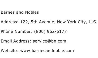 Barnes and Nobles Address Contact Number