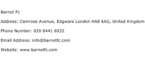 Barnet Fc Address Contact Number