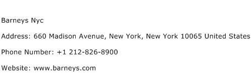 Barneys Nyc Address Contact Number