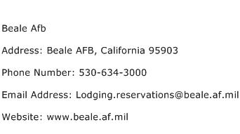 Beale Afb Address Contact Number