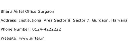 Bharti Airtel Office Gurgaon Address Contact Number