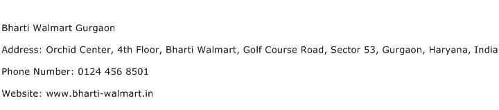 Bharti Walmart Gurgaon Address Contact Number