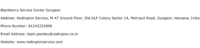 Blackberry Service Center Gurgaon Address Contact Number