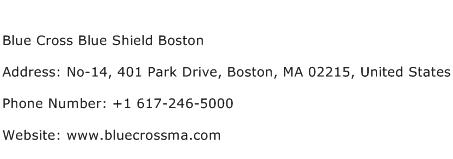 Blue Cross Blue Shield Boston Address Contact Number