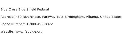 Blue Cross Blue Shield Federal Address Contact Number