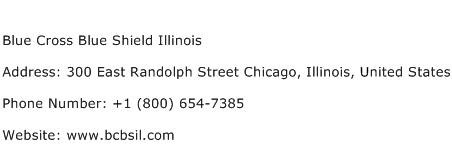 Blue Cross Blue Shield Illinois Address Contact Number