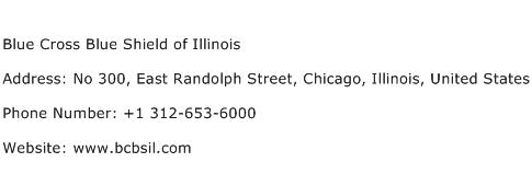 Blue Cross Blue Shield of Illinois Address Contact Number