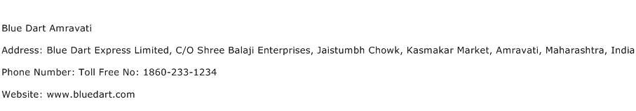 Blue Dart Amravati Address Contact Number
