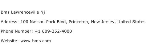 Bms Lawrenceville Nj Address Contact Number