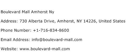 Boulevard Mall Amherst Ny Address Contact Number