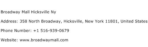 Broadway Mall Hicksville Ny Address Contact Number