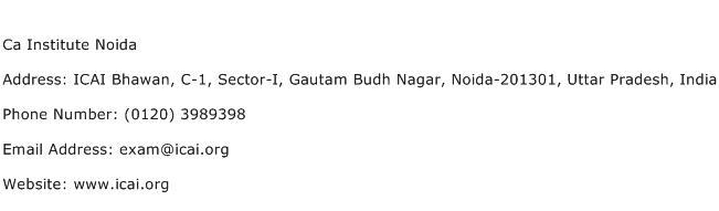 Ca Institute Noida Address Contact Number
