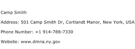 Camp Smith Address Contact Number
