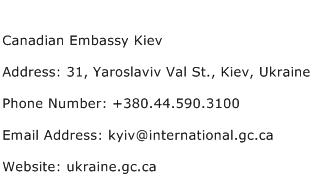 Canadian Embassy Kiev Address Contact Number