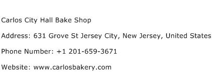 Carlos City Hall Bake Shop Address Contact Number