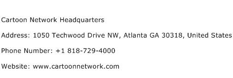 Cartoon Network Headquarters Address Contact Number