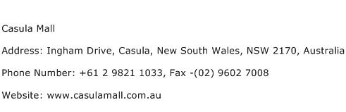 Casula Mall Address Contact Number