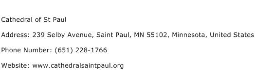 Cathedral of St Paul Address Contact Number