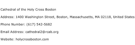 Cathedral of the Holy Cross Boston Address Contact Number