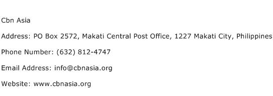 Cbn Asia Address Contact Number