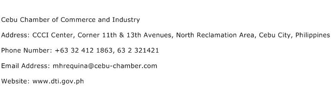 Cebu Chamber of Commerce and Industry Address Contact Number