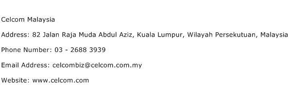 Celcom Malaysia Address Contact Number
