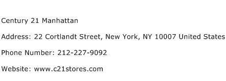 Century 21 Manhattan Address Contact Number