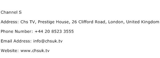 Channel S Address Contact Number