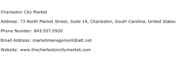 Charleston City Market Address Contact Number
