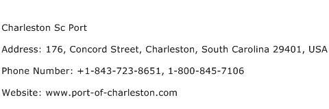 Charleston Sc Port Address Contact Number
